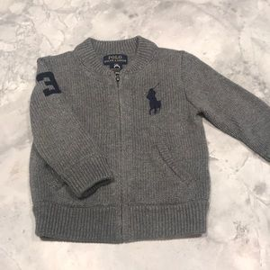 Polo by Ralph Lauren 12 months gray sweater.